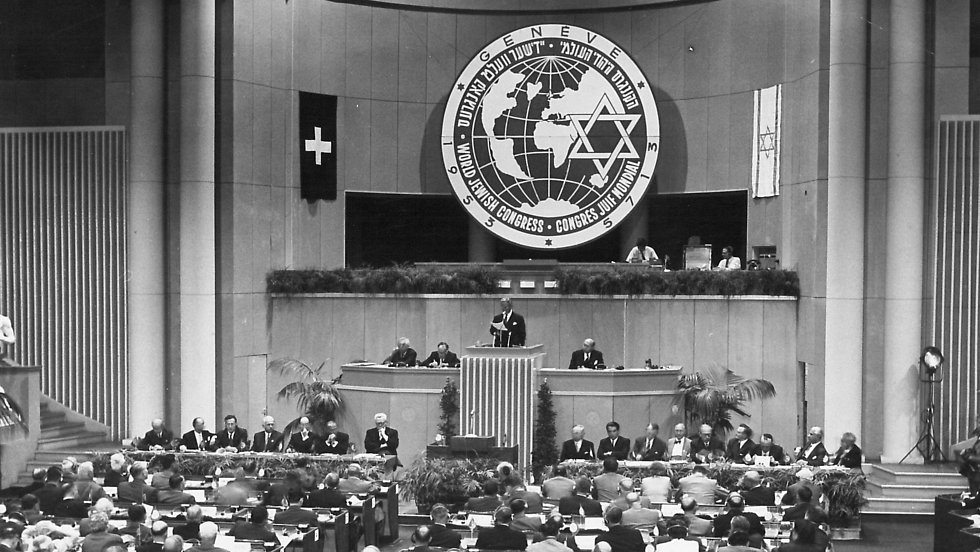 The World Jewish Congress in Geneva in 1953.