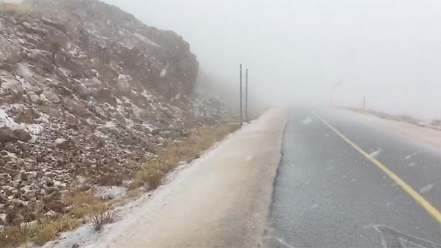 שלג בחרמון (צילום: לירון מילס, אתר החרמון) (צילום: לירון מילס, אתר החרמון)