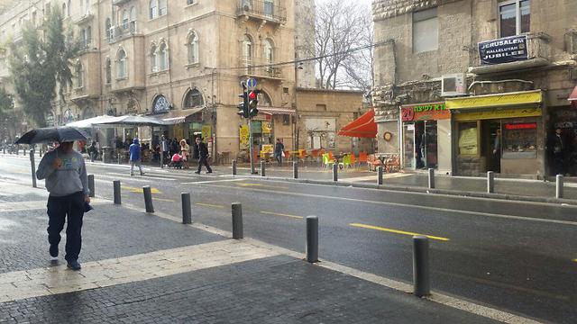 גם ירושלים גשומה (צילום: אלי מנדלבאום) (צילום: אלי מנדלבאום)