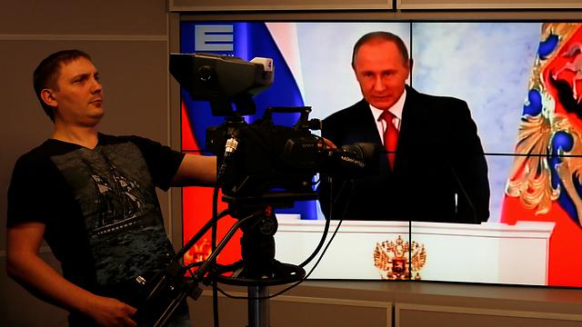 הכלכלה כבר משתקמת. נאום פוטין מועבר בשידור חי (צילום: רויטרס) (צילום: רויטרס)