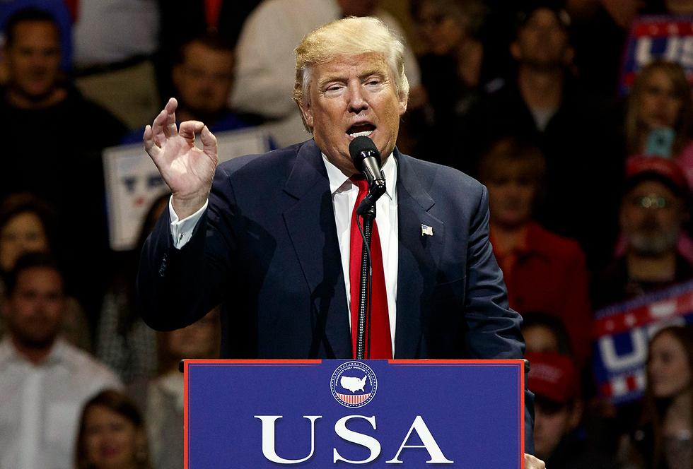 """נשיא ארה""""ב דונלד טראמפ (צילום: AP)"""