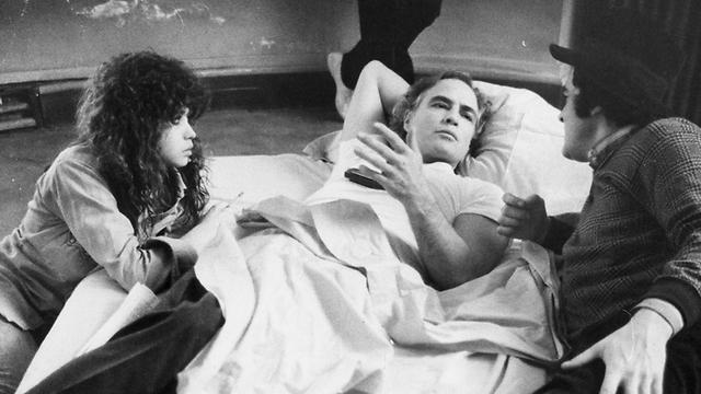ברנדו ושניידר, יחד עם ברטולוצ'י במהלך צילומי הסרט (צילום: Getty Images Imagebank) (צילום: Getty Images Imagebank)