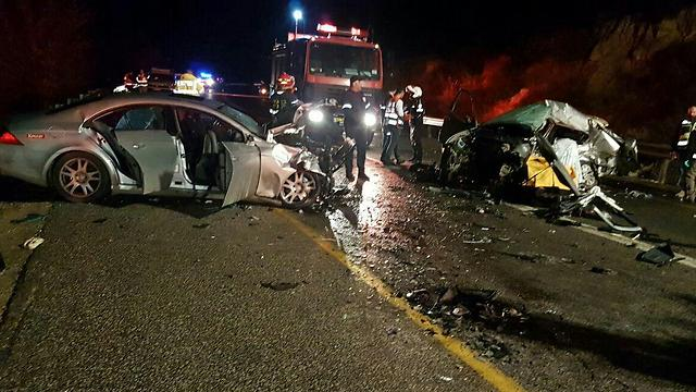 Scene of the crash (Photo: MDA)