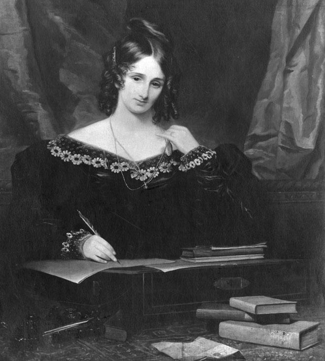 מרי שלי. כתבה את סיפור המדע הבדיוני הראשון (ציור: Gettyimages)