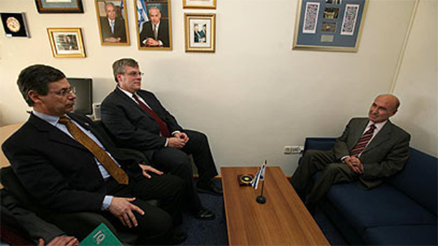 The infamous reprimand with the then-Turkish ambassador seated on a lower sofa than the Israelis in 2010 (Photo: Gil Yohanan)