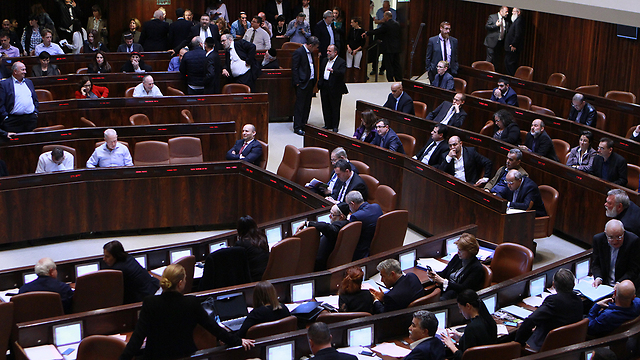Knesset adopts Regulation Law, last week (Photo: Alex Kolomoisky) (Photo: Alex Kolomoisky)