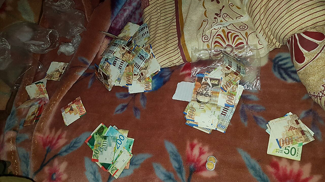 Cache of money found in the home of one of the Hamas suspects (Photo: IDF Spokesperson's Unit)