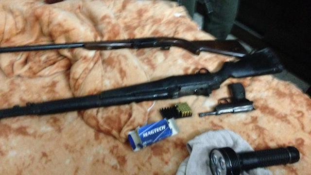 Weapons found in the brush around Highway 60 (Photo: IDF Spokesperson's Unit)