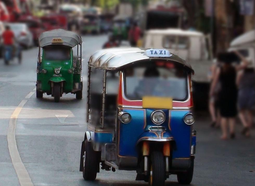 """מונית """"טוק טוק"""" טיפוסית בבנגקוק (צילום: iStock) (צילום: iStock)"""