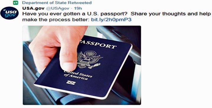 הממשל האמריקאי מבקש בטוויטר הצעות לשיפור ההליך להנפקת דרכון