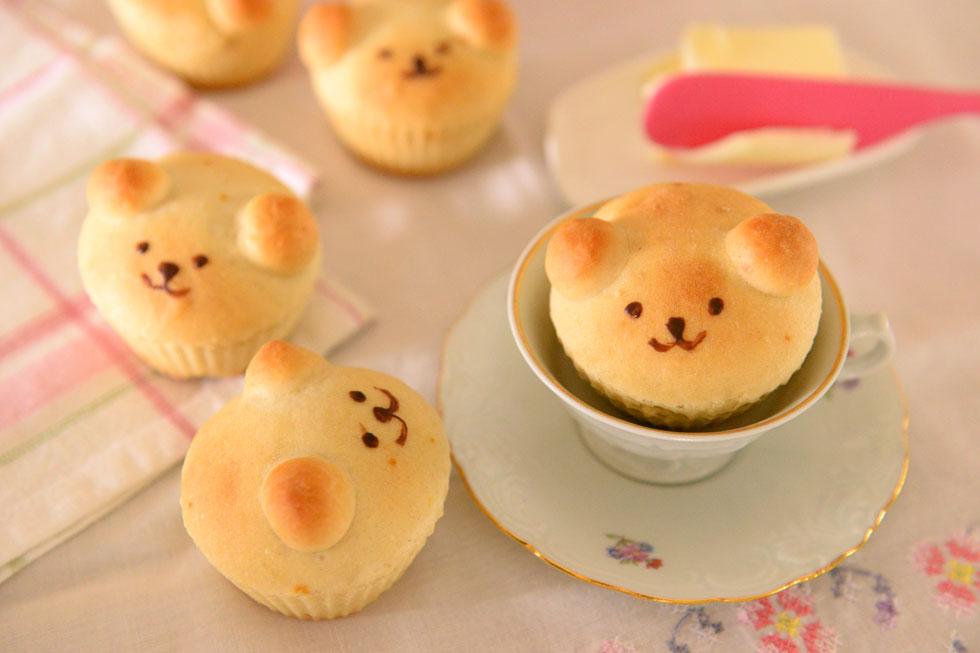 לא רק חמודות, אלא גם קלות להכנה. לחמניות מתוקות בצורת דובונים (צילום: אפרת מוסקוביץ)
