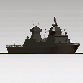 Simulation of the Sa'ar 6-class corvette. The junior officers who will serve on it have already been selected