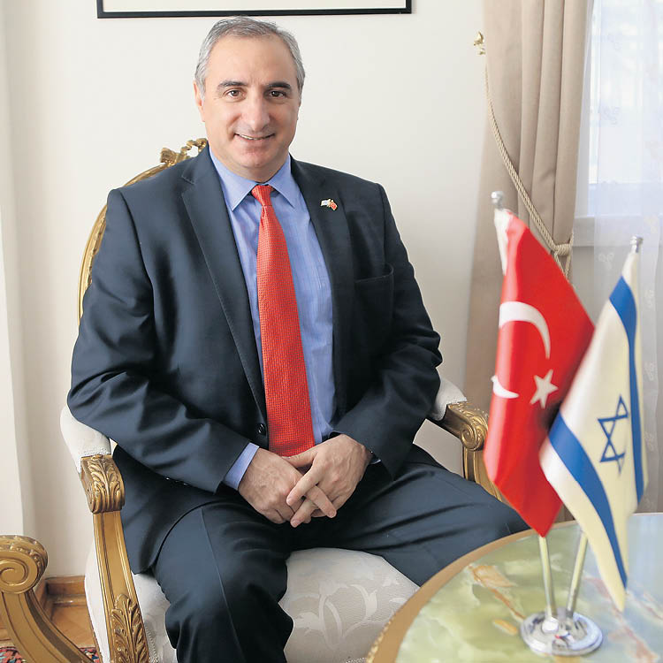 Ambassador Naeh in his office, last week (photo courtesy of the Israeli Embassy in Turkey)
