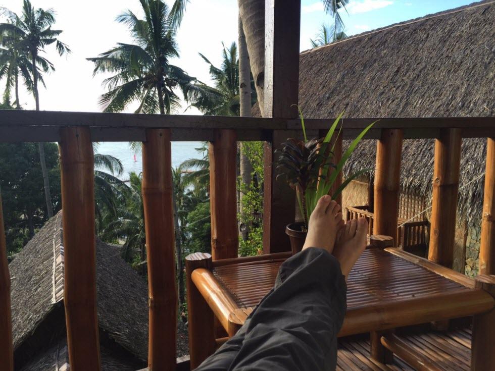על מרפסת החדר בקוקו ביץ' (באדיבות מלכת המדבר)