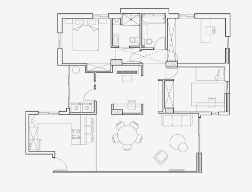 תוכנית הדירה אחרי השיפוץ (שרטוט: קרן בר סטודיו Karen.B)