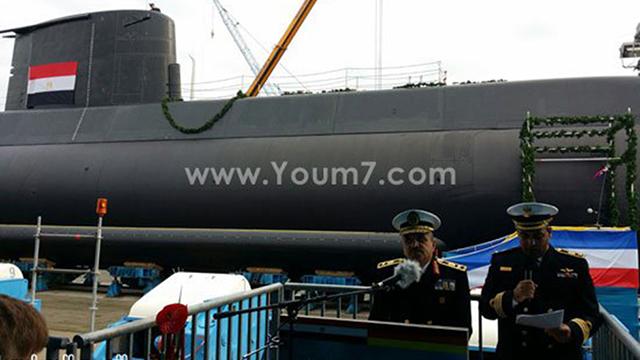 חניכת הצוללת שרכשו המצרים מגרמניה ()