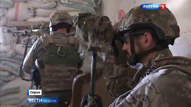 הכוחות המיוחדים של רוסיה בפעולה בסוריה - תיעוד מהטלוויזיה הרוסית ()
