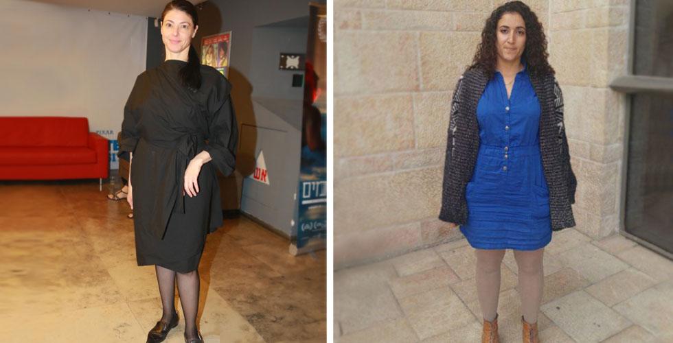 שקד חסון (מימין) ומרב מיכאלי. קוד לבוש אינו עניין מגדרי, אלא תרבותי (צילום: מתוך הפייסבוק של מרב מיכאלי, דנה קופל)