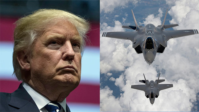 Trump against the F-35 (Photo: AP and MCT)
