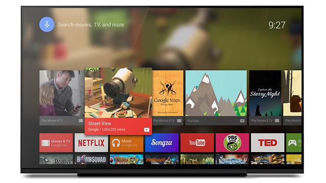 פלטפורמת Android TV (צילום: גוגל)