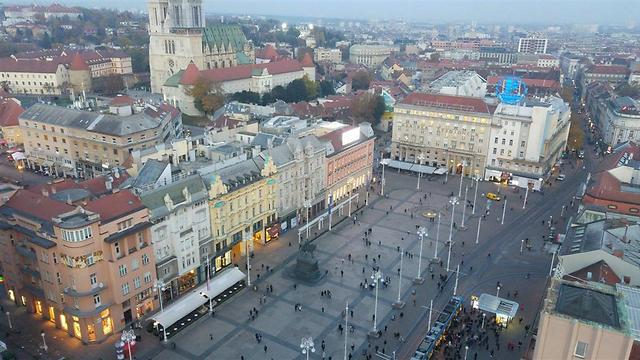 הנוף הנשקף בתצפית Zagreb Eye מהמגדל הגבוה בזאגרב (צילום: נדב בנדל) (צילום: נדב בנדל)