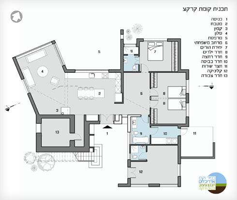 תוכנית הבית (באדיבות כפיר וקס)