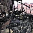 """""""היה חשש לחייו של הדייר בדירה שבערה"""". הדירה שניזוקה בשריפה צילום: באדיבות מכבי האש"""