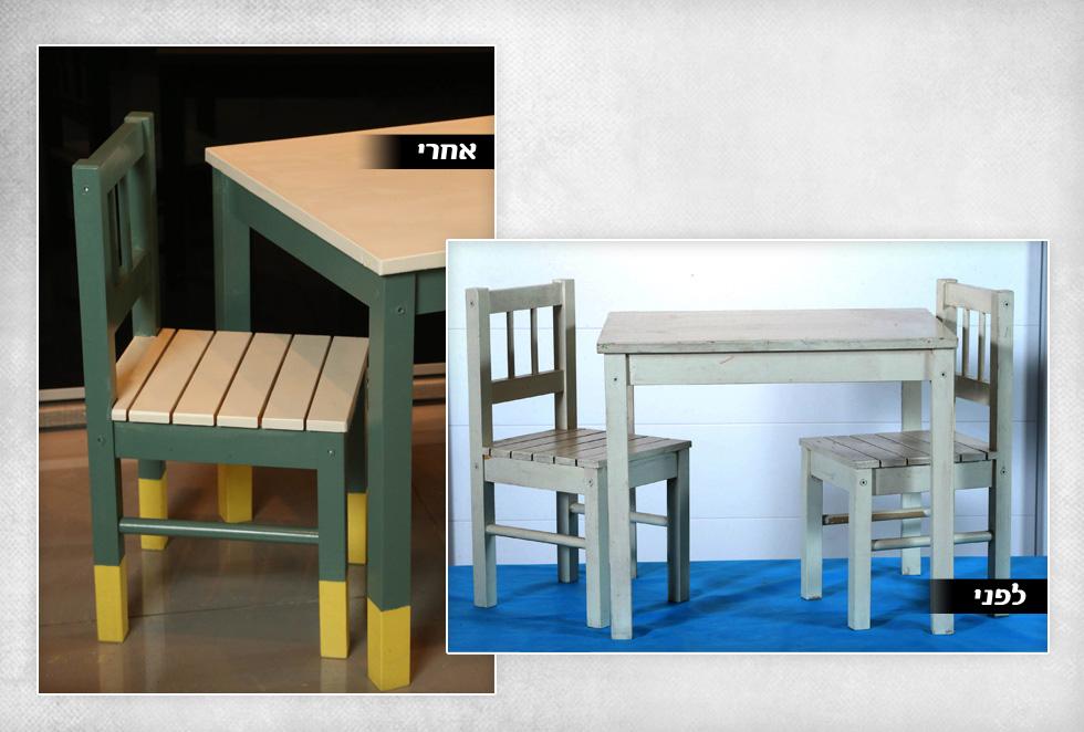 2. שולחן וכיסאות של האדריכלית יוליה סטרוסלסקי  (צילום: צביקה טישלר)