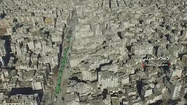 העיר השנייה בגדולה בסוריה הפכה לעיי חורבות (צילום: רויטרס)