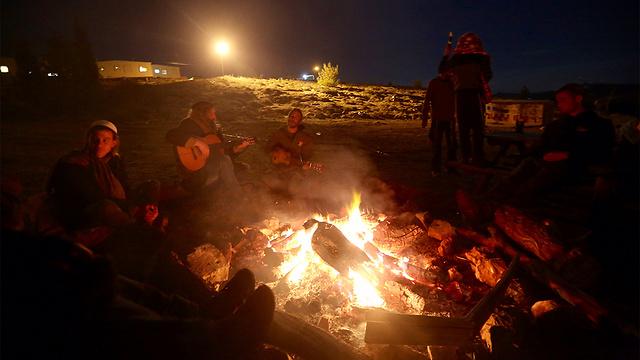 Settlers preparing for the Amona evacuation (Photo: Gil Yohanan) (Photo: Gil Yohanan)
