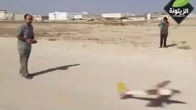 Mahammad a-Zawahri flying a UAV