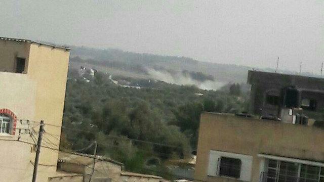 ירי לעבר עמדת חמאס בדרום הרצועה, אתמול ()