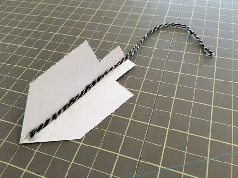 מדביקים חוט לאחד הסביבונים (צילום: דנה הדר)