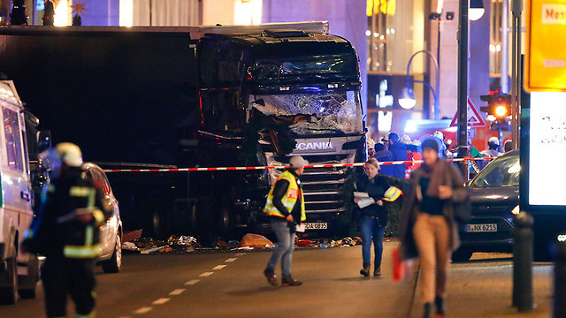 The truck used in the attack (Photo: Reuters)