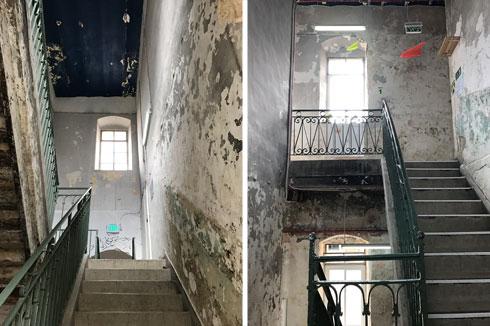גרמי המדרגות הושמשו לטובת הדיירים החדשים  (צילום: הילה שמר)