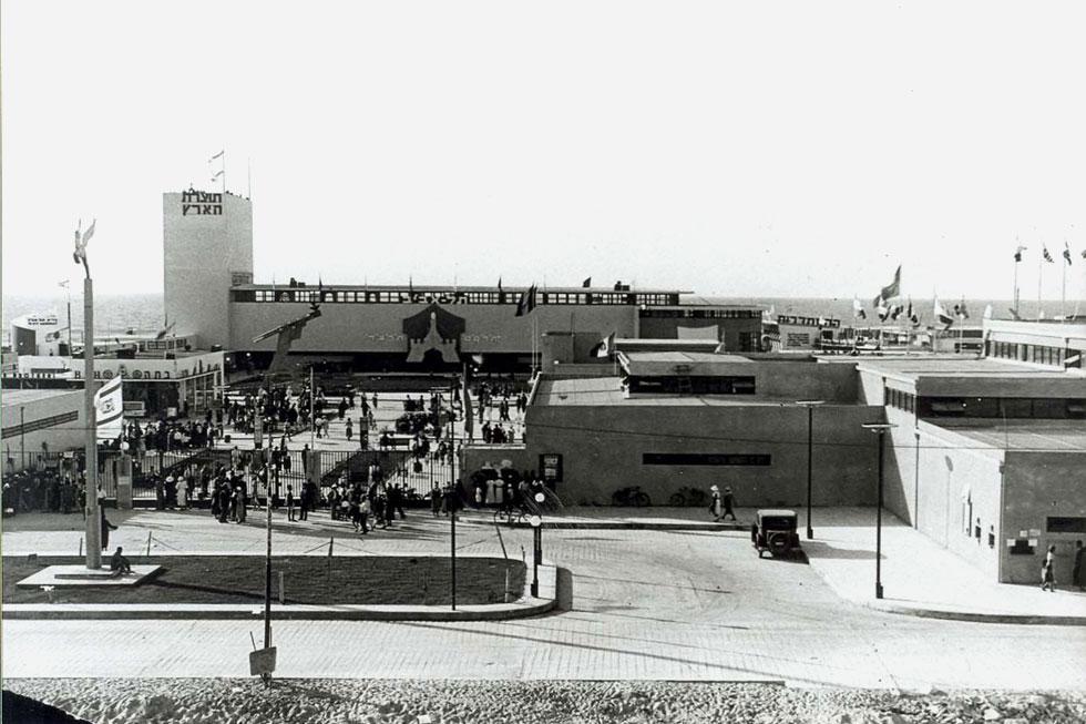 """ארמון תוצרת הארץ, בלב יריד המזרח וגולת הכותרת שלו, 1934. """"בניין זה הוא ממיטב הארכיטקטורה המודרנית שנבנתה באותן שנים בארץ"""", קבע האדריכל והיסטוריון האדריכלות אבא אלחנני (צילום: Ilan Shchori, cc)"""