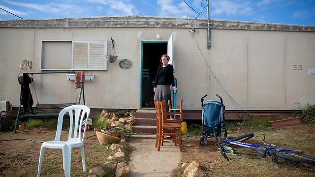 Settlers in Amona (Photo: Ohad Zwigenberg) (Photo: Ohad Zweigenberg)