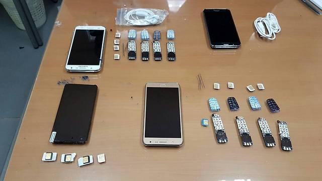 הטלפונים שלפי החשד גטאס העביר ()