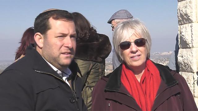 Senior Trump administration official Becky Norton Dunlop with Yossi Dagan