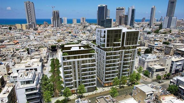 הדמיית הפרויקט בדרום תל-אביב (הדמיה: סטודיו 84)