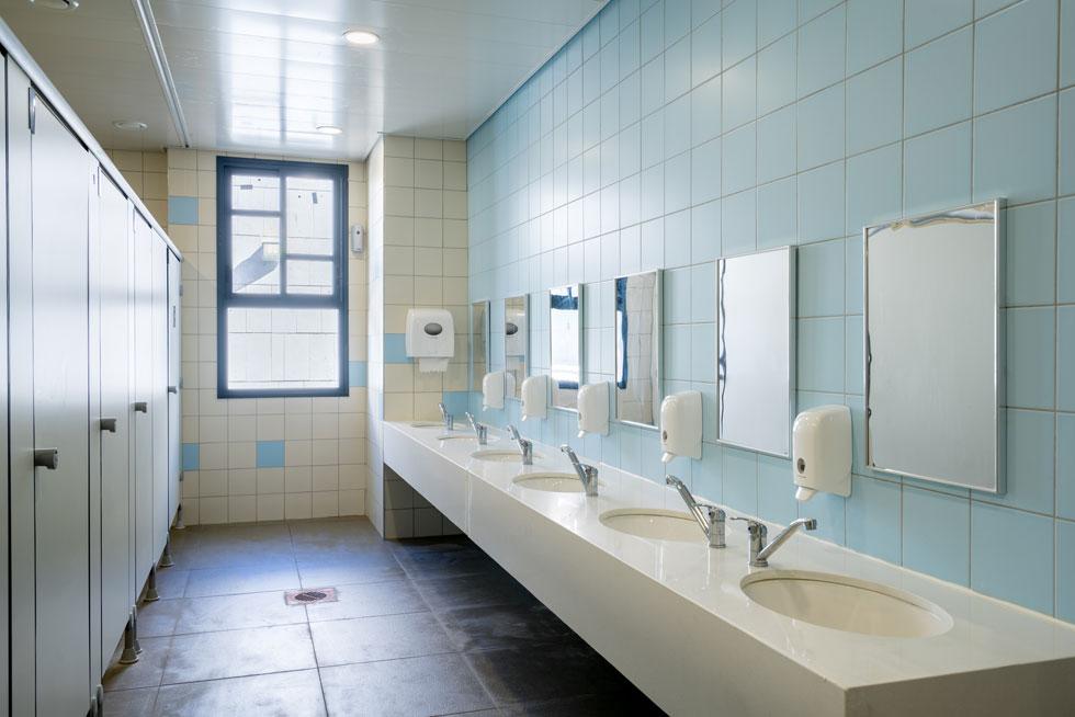 חדרי השירותים פשוטים לתחזוקה ולניקיון. החלון מכניס אליהם אור ואוויר ומקנה למשתמשים תחושת ביטחון (צילום: יואב פלד)