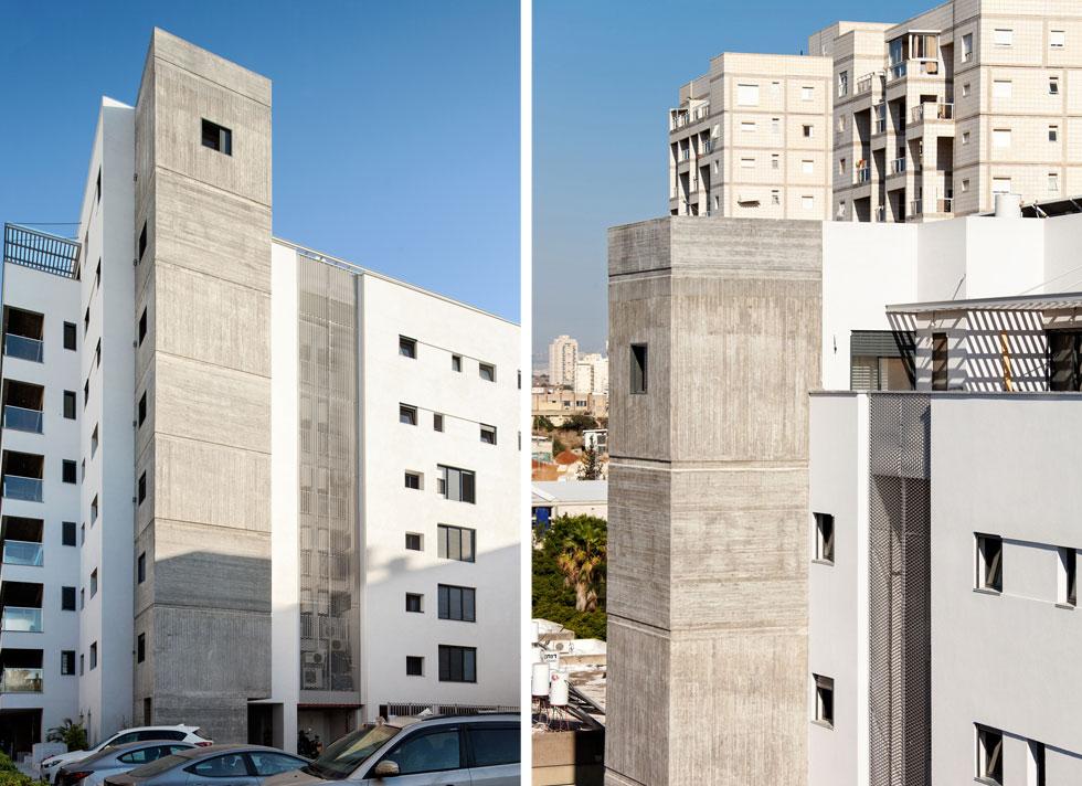 התקבל בניין אחד שלם, ולא מערכת קליפות ותוספות כפי שרואים ברחבי גוש דן (צילום: אייל תגר)