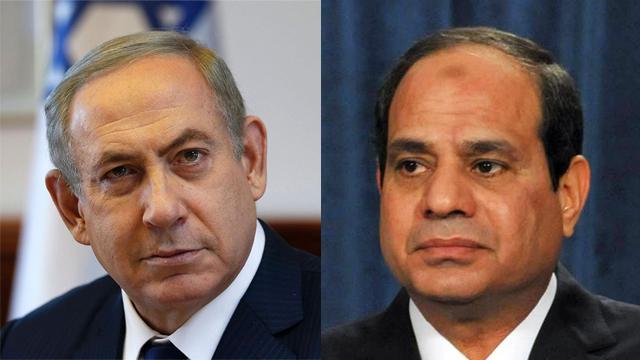 President Abdel Fattah al-Sisi  and Prime Minister Benjamin Netanyahu (Photo: AP, AFP)