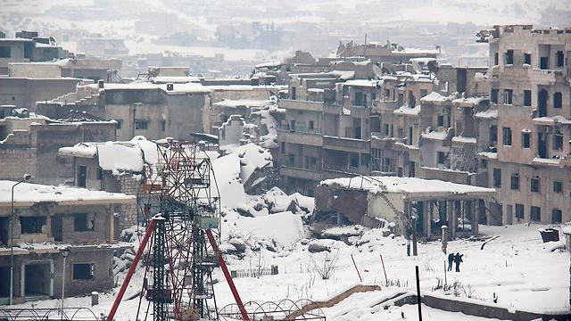 הפכה לאזור מפלט לאוכלוסייה הסונית במערב סוריה. העיר אידליב (צילום: AFP)