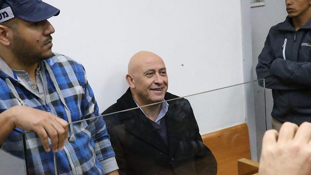 MK Basel Ghattas sits in court (Photo: Motti Kimchi)