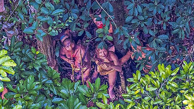 """שבט מבודד באמזונס, ברזיל. מצילומי """"נשיונל ג'אוגרפיק"""" (צילום: נשיונל ג'יאוגרפיק) (צילום: נשיונל ג'יאוגרפיק)"""