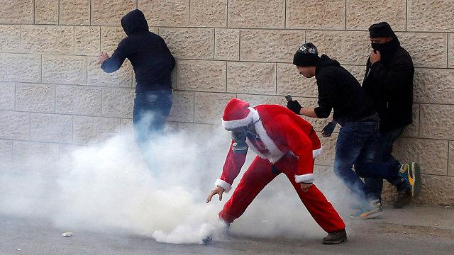 העימותים בבית לחם (צילום: רויטרס)