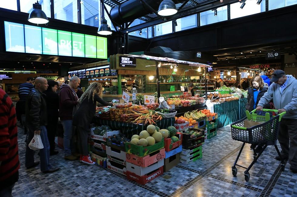 השוק בשרונה מרקט (צילום: ירון ברנר)