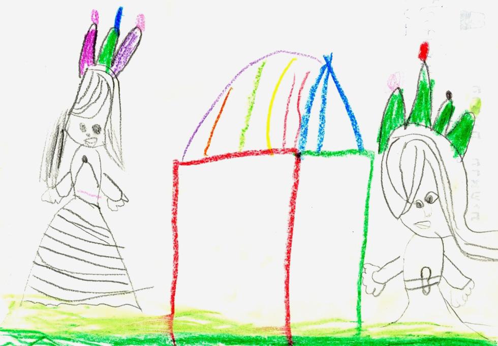 הציור של אהוד: אין דלת שתזמין להיכנס ואין חלונות שיכניסו את אור השמש הביתה פנימה