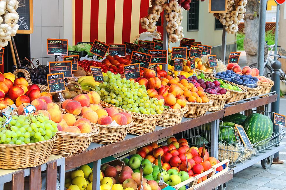 ללא התערבות יד אדם. שוק באיטליה (צילום: shutterstock)